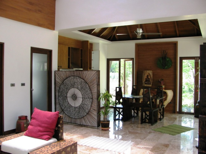 Klong Nin 3 bedroom pool villa Dining area,Koh Lanta